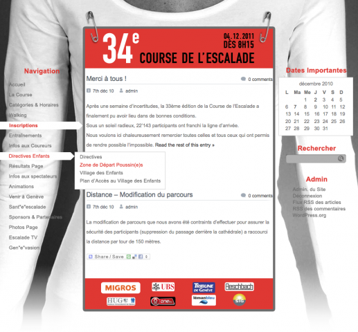 Course de l'Escalade: site web