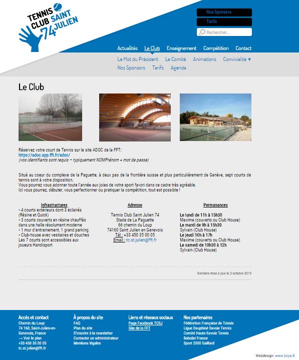 Tennis Club de Saint-Julien-en-Genevois: cliquez pour VISITER le site!